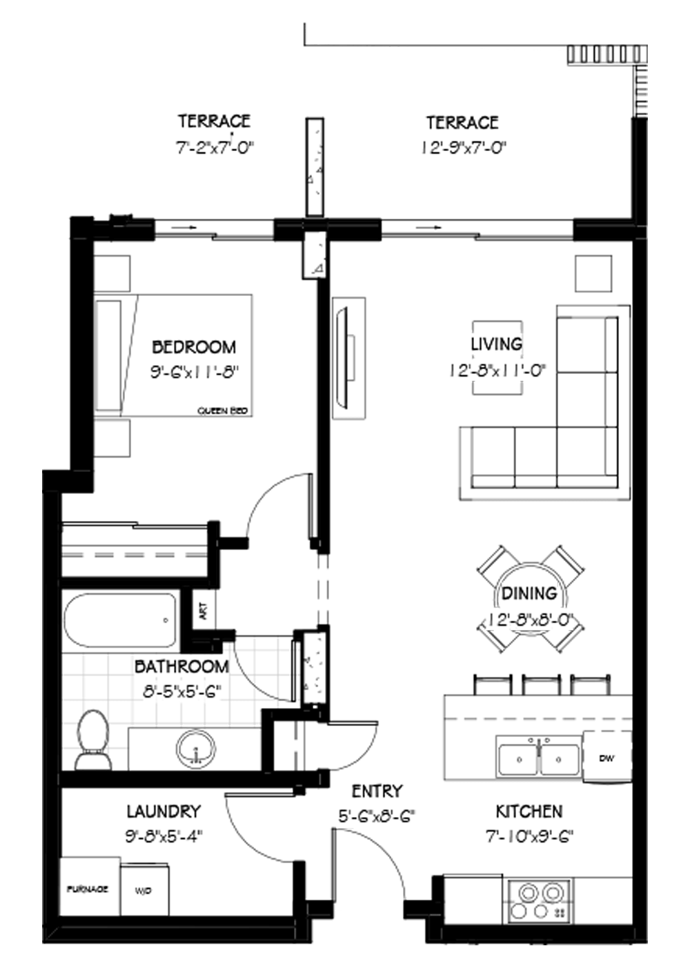 The Frey Suite, 797 SF