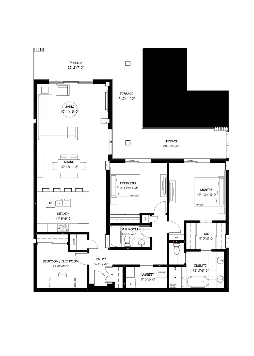 The Jacobsen Suite, 1590 SF