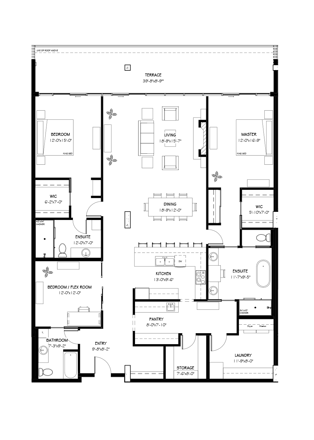 Penthouse One, 2707 SF